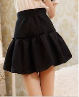 2014 New In Fashion Women's Skirts Print Elastic Waist Pleated Bust Female Skirts