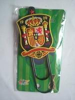 Spain national football team plastic bookmark  /  soccer bookmarklet