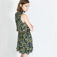 hot sale new arrival casual sleeveless  flower print women  dress