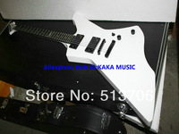 James Hetfield Snake byte in White Explorer Electric Guitar High Quality Free Shipping