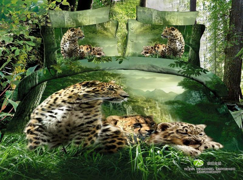 Jungle Slaapkamer : Jungle Animal Print Comforter Set