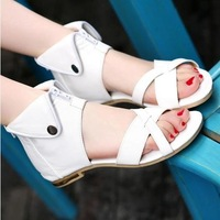 2014 summer flats women sandals heel shoes cool boots cutout boots gladiator shoes young girl sweet size34-43 Free shipping