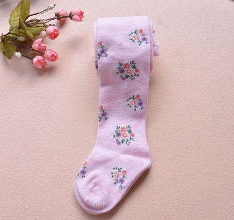 Hot sale floral girls pantyhose tights cotton kids leotard children skinny pants free shipping(China (Mainland))
