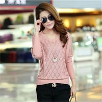 New 2014 Women Sweater Sleeve Head Han Edition Loose Bat Sleeve Cashmere Sweater Render Unlined Upper Garment Free Shipping