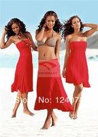 summer women beach new fashion beach dress fashion bikini outside shirt tie skirt beach one-piece dress