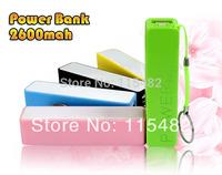 2600mAh perfume mini Power Bank universal USB External Backup Battery for iPhone Mobile power for samsung 100sets