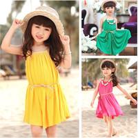 Free shipping!  new 2014 summer children's clothes harness dress princess summer beach dress, girls dress