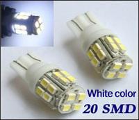 10 X T10 W5W 20 SMD LED Bulb 1206 Car Side Wedge Light Bulb 194 927 161 168 White Car Door Light Tail Lamp Backup Lighting