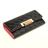 New 2014 High Quality Women Leather Wallets Fashion Brand Designer Ladies Purse Japanned Leather Female Wallets