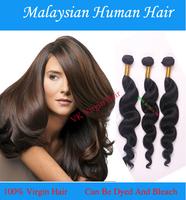 Wholesale Human Hair Extensions Malaysian Loose Wave Hair Color Natural black 1B# 4PCS/Lots Loose Wave Virgin Hair Products