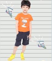 Free shopping Children's clothing sallei card 2014 summer male child t-shirt child short-sleeve T-shirt child basic shirt