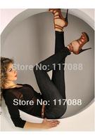 Hot Sale 2014 Women Black Sexy Mid Leggings Seamless New Arrival Vintage Fashion Jean Jeggings