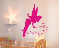 Fairy Stars Vinyl Wall paper Wall Mural Kids Children Wall Sticker Home Decal