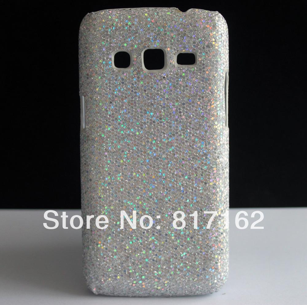 Чехол для SAMSUNG GALAXY экспресс 2 II G3815, серебро блестящие блесточки аксессуары дизайн жёсткая кожи чехол чехол для samsung s8530 wave ii palmexx кожаный в петербурге
