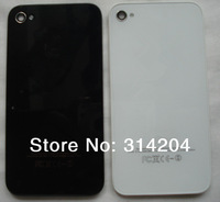 100% Top Quality for iPhone 4S Battery Glass Back Cover Housing Glass Black White by AM DHL EMS(5PCS/Lot)