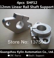 Hot Sale! 4pcs SHF12 horizontal linear shaft support,12mm Linear Rail Shaft Support XYZ Table CNC SHF Series Rail Shaft