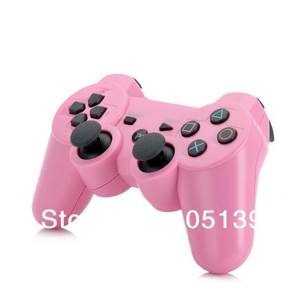 Nuovo arrivo Wireless Dual- shock controller di gioco/gioco pad/joystick/maniglia controller bluetooth per PS3- rosa