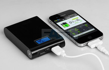 12000mAh LCD LED USB Black External Power Bank Battery Charger for iPhone Samsung HTC S15-B