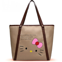 5 pcs/lot 2014 New Arrive fashion handbags for women Hello kitty Casual bags Waterproof handbags  Large shoulder bag