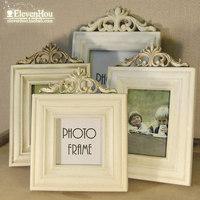 Retro finishing zakka wool fashion photo frame wooden photo frame