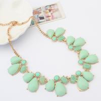 Fashion decoration necklace sweet candy color gem drop all-match necklace short design