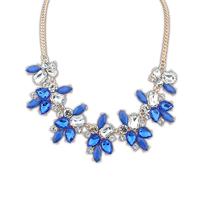 Fashion decoration sweet fresh bling gem necklace