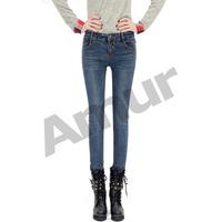 2014 new Spring  summer fashion pencile pants Women jeans 14JE013