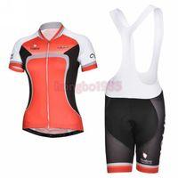 Newest ! ! ! 2014 Outdoor Women Short Sleeve Sport Wear Cycling Jersey + Cycling Bib Shorts Sets CC040