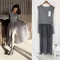 Modal 2014 placketing patchwork chiffon one-piece dress elegant strapless slim full dress female