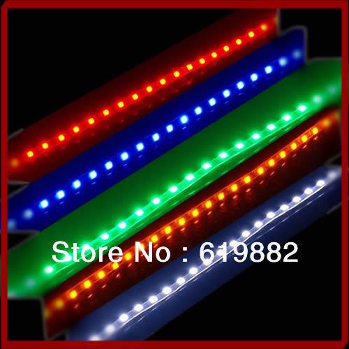 "Y92"" Wholesale&Retail Super Bright 45cm 45 LEDS SMD 12V Car Flexible LED Eyebrow Strip Light Lamp Bar(China (Mainland))"