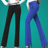 2014 pants ol career pants bell bottom women's casual all-match pants female trousers flare pants women