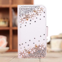 new arrival bling diamond rhinestone crystal leather bag Case For Samsung Galaxy Note 2 Note2 II N7100 7100 Case free shipping