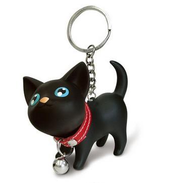Wholesale 1pc Birthday Gift LOVER 2014 Couple keychain Cat key chain 6*4cm Free shipping Rabbit 8cm(China (Mainland))