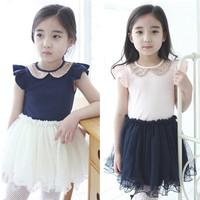 Hot Sale Cotton Gauze Child Girl Dresses Paillette Ruffled Sleeveless Girls Baby Fashion Tutu One piece Layered Dresses 635169