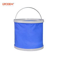 2014 Time-limited New Arrival Freeshipping In-stock Items Red Blue 1-3l 5pcs Car Fishing Bucket Outdoor Water Folding Portable