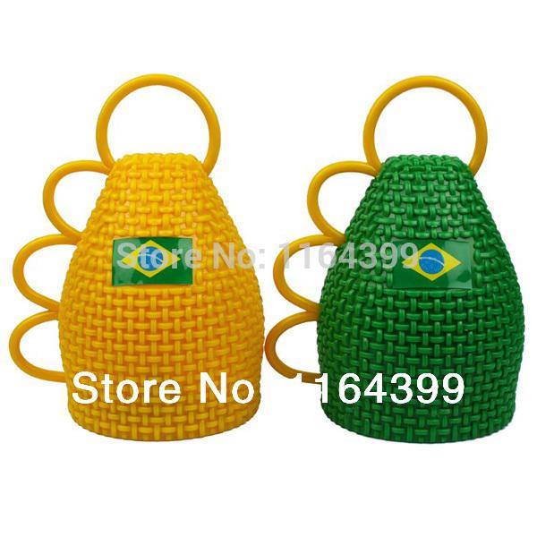 brazil 2014 world cup souvenir caxirola speakers vuvuzela football soccer cheerleading cheerleader fan horn free shipping(China (Mainland))