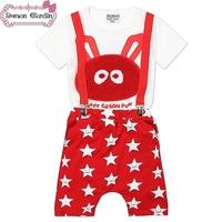 2014 New girls 2pcs set children clothing set kids lovely t shirt + stars pants suites for 2-7 years