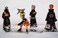 Japan Anime Film Figure Toy 4x Naruto Konan Kakuzu Tobi Figure Set Brand New