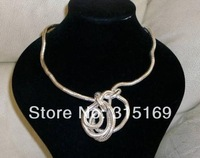 Minimum Order $10, Mixed items, 6.0mm dia, 47Inch length, Flexible Snake Bendy Necklace, Twist Bracelet, Cool Wristband