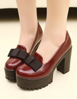 2014 spring new arrival fashion bow women's shoes shallow mouth foot wrapping daily casual shoes