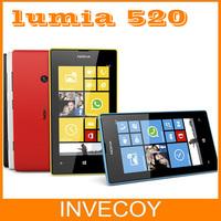Brand Lumia 520 Original Unlocked Nokia lumia 520 mobile phone Windows dual core 3G WIFI GPS 5MP 8GB Storage warranty