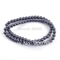 ! 350pcs/Lot, Top Quality 6mm Matte Black Hematite Beads Fit Shamballa Bracelet Necklace