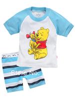 2014 New arrive Baby short sleeve cotton pajamas,Kids pyjamas baby sleepwear clothing,boys girls children summer wear X-4210
