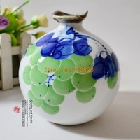 Wind Series / hand-painted ceramic vases / small grape / compact / modern home decor furnishings 3