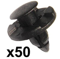 In Stock New 50x Plastic Trim Retaining Clips / Fasteners- 8mm hole for Honda Toyota Jazz Civic CR-X Free Shipping