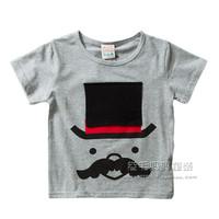 Clothing short-sleeve T-shirt 2014 summer top male female child T-shirt baby o-neck basic shirt