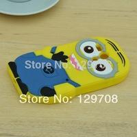 For Motorola Moto G XT1032 XT1030 Cute Despicable Me Yellow Minion Soft Rubber Silicone Phone Cases Back Cover Case 1pcs/lot