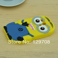 For Motorola Moto G XT1032 XT1030 Cute Despicable Me Yellow Minion Soft Rubber Silicone Phone Cases Back Cover Case 1pcs/lot
