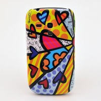 For galaxy s3 mini cases colorful flower pattern cell phone case back cover fit samsung galaxy SIII i8190 free shipping