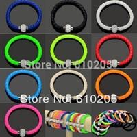 Wholesales Hot Bracelets and bangles  Mixed colors Shamballa PU  Magnetic Clasp  Leather Bracelets